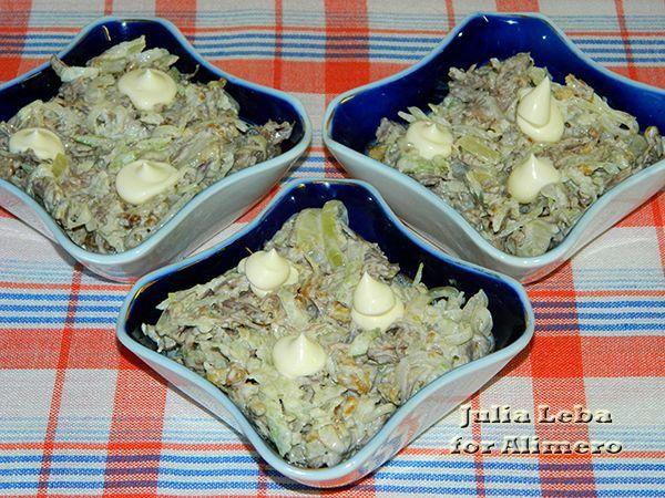 мясной салат рецепт