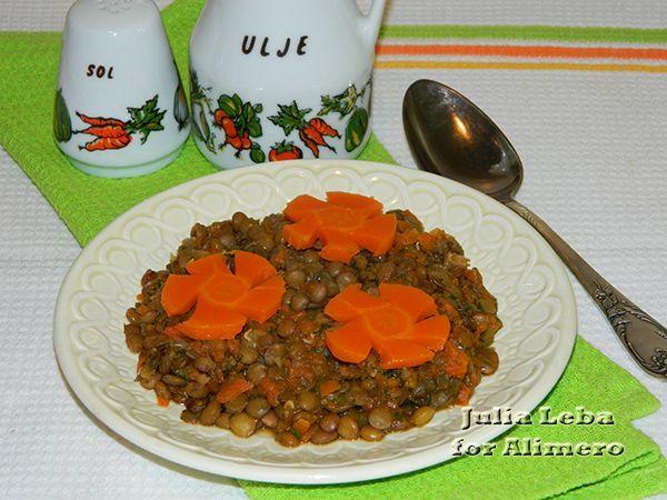 Тушёная чечевица рецепт