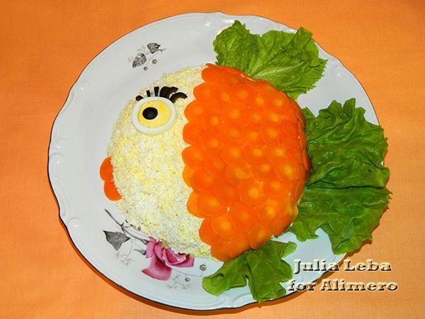 Новогодний салат Рыбка