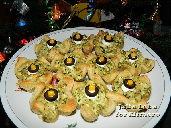Закуска для праздничного стола Корзиночки