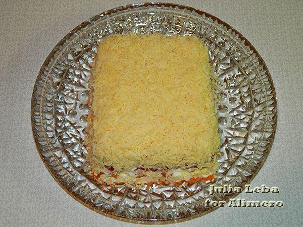 Сырный салат с гранатом Календарь