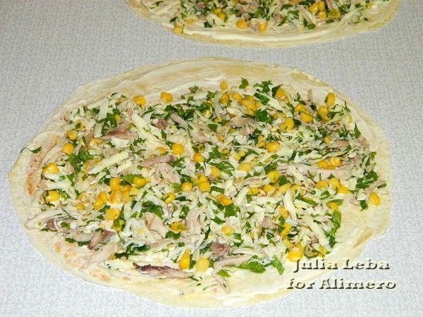 рецепты салатов в лаваше с фото простые