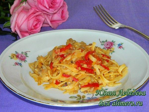 запеканка из макарон с курицей в духовке рецепт с фото
