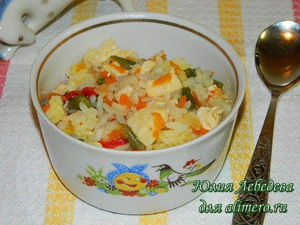 Куриный плов с овощами