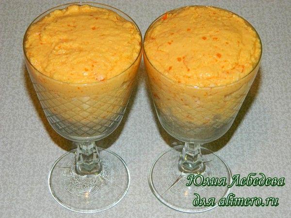 Десерт с хурмой