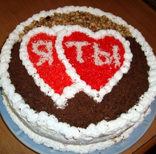 Украсить торт любимому своими руками 60