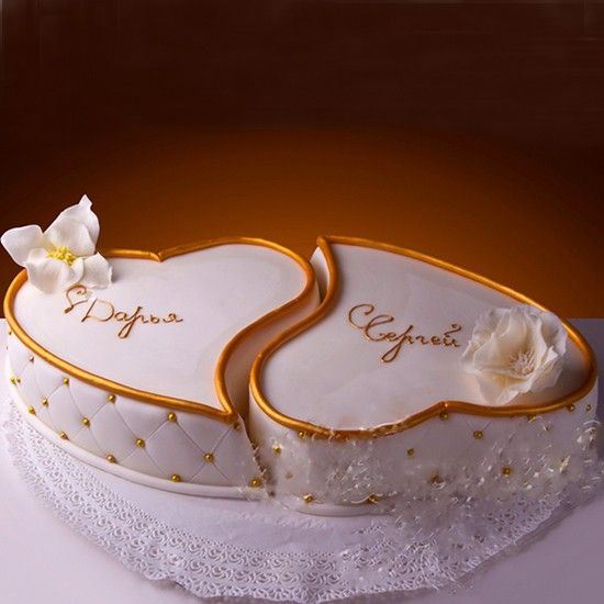 Торт на день влюблённых