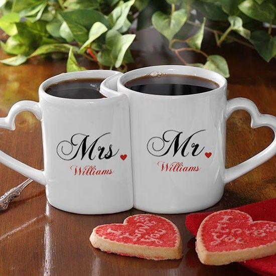 Подарки для влюбленных — набор парных кружек для чая и кофе