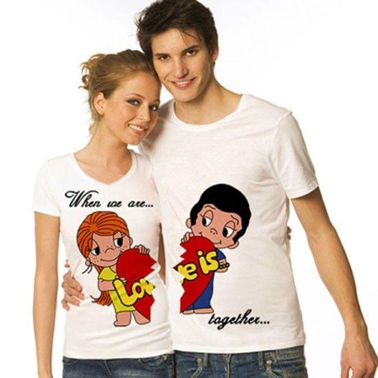Подарки для влюбленных — футболки для двоих