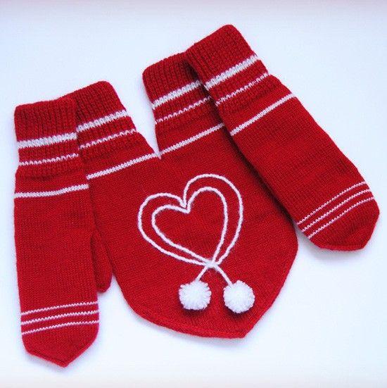 Подарки для влюбленных — варежки для пары