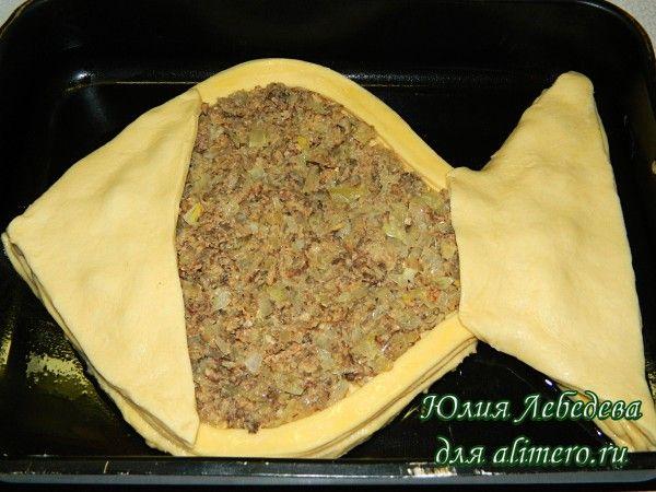 Пирог с рыбными консервами