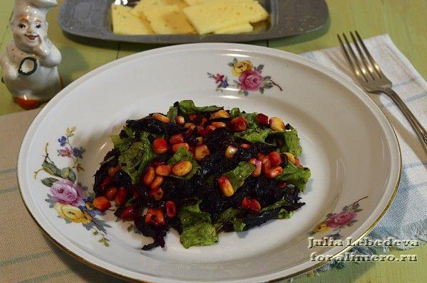 Салат из свеклы и кукурузы