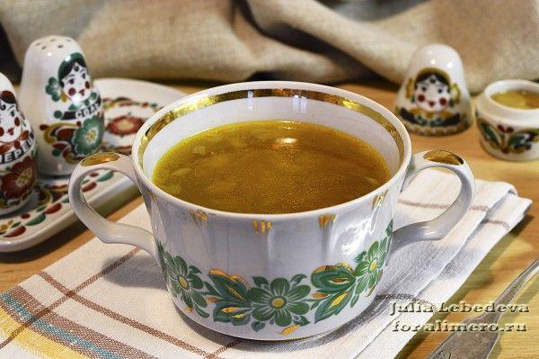 Суп с опятами и вермишелью