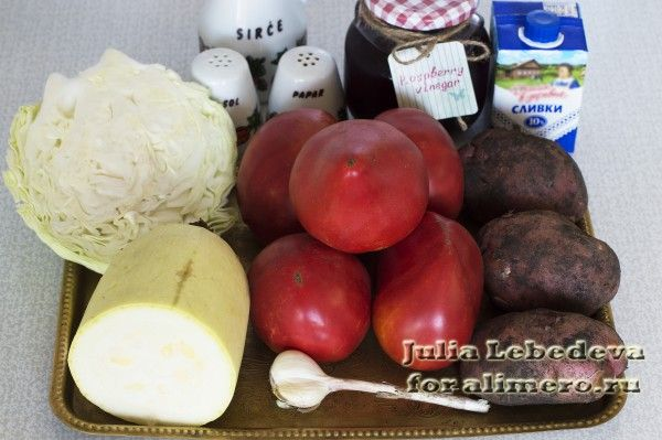 Картошка с овощами в горшочках