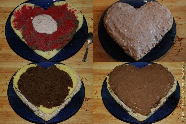 Торт сердце рецепт фото