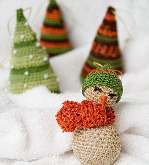 Вязанные новогодние игрушки своими руками