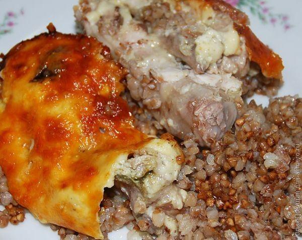 гречка с курицей в духовке со сметаной рецепт с фото
