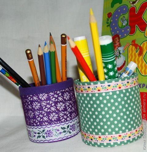 Как своими руками сделать подставку для карандашей своими руками из бумаги