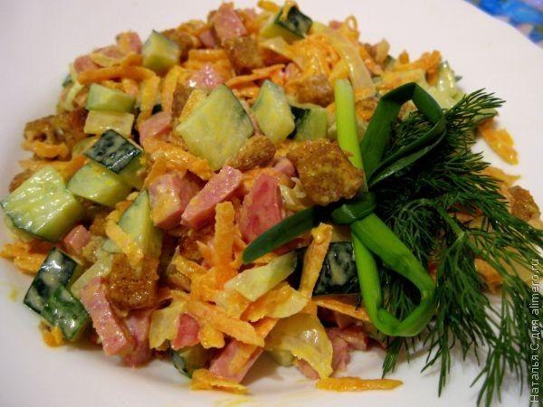 Салат с колбасой «Обжорка»