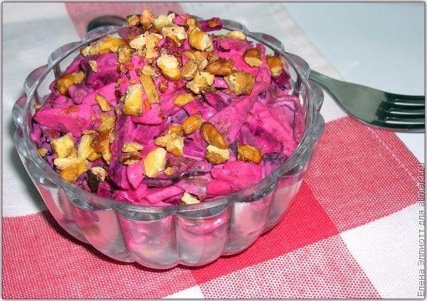 Салат из свеклы со сметанной заправкой