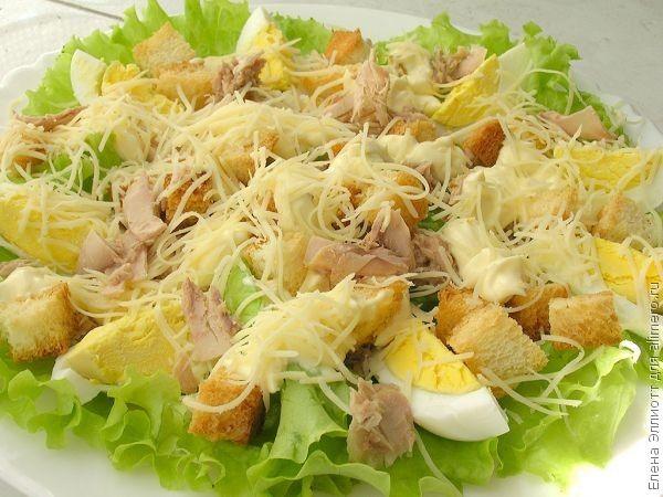 видео рецепт салата цезарь