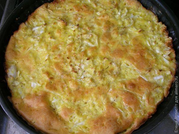 Пирог с капустой для ленивых рецепт с пошагово