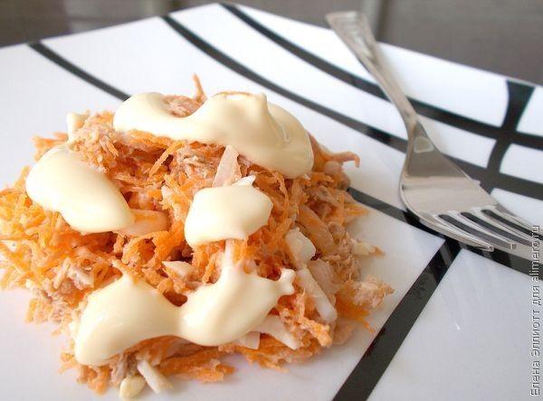 салат с консервированным тунцом и морковью рецепт