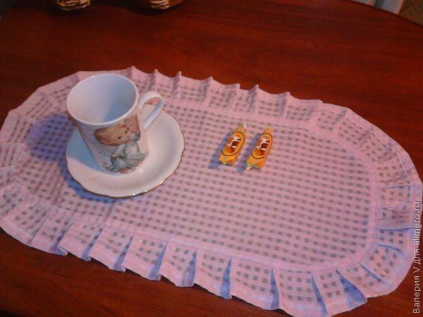 Салфетки на стол под тарелки фото своими руками сшить 64