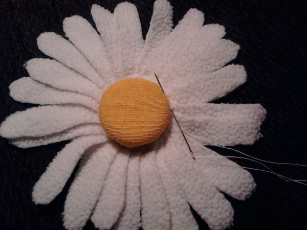 Ромашки из ткани своими руками сшить