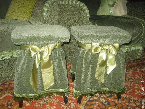 Чехлы на табуретки без шитья