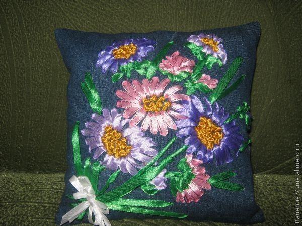 Вышивка цветов лентами своими руками