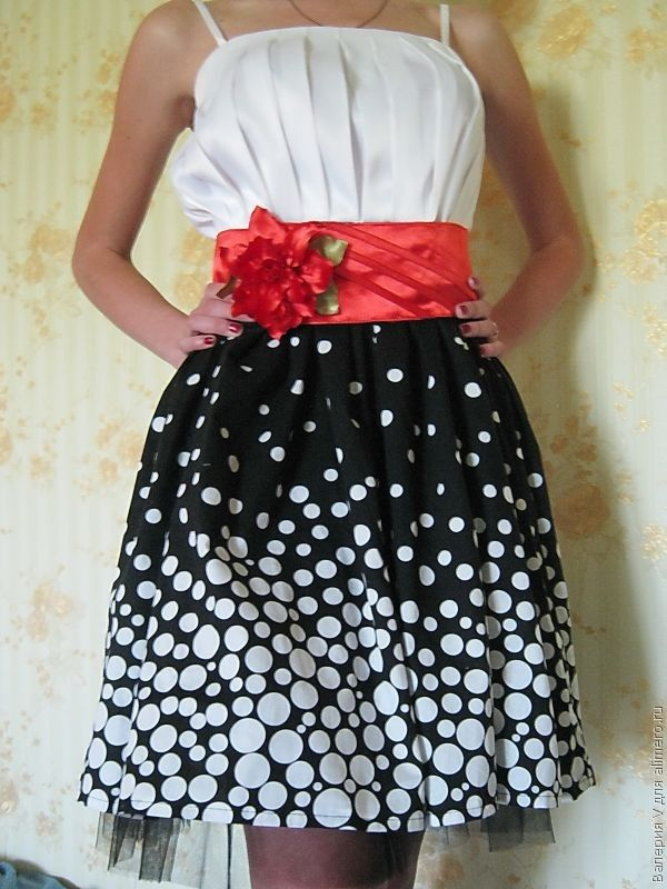 Платье своими руками из цветов