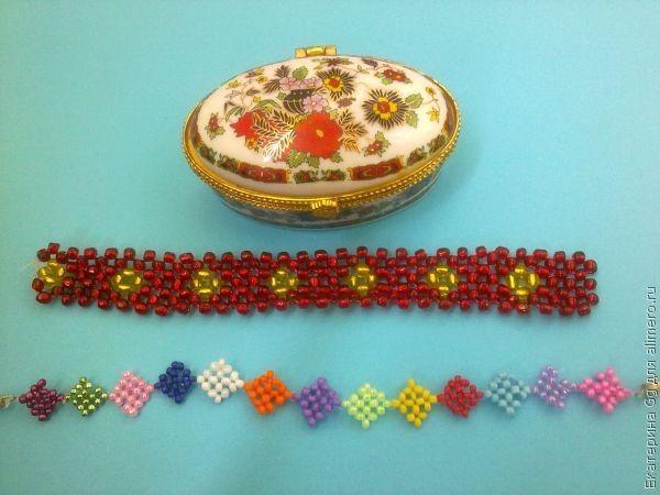 30 апреля 2012, 20:26. бисереплетение.  2. Сегодня я хочу рассказать вам, как я делала браслеты из бисера. украшение.