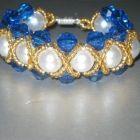 Изображение браслет из бисера и бусин из коллекции мк бисер, бусины на сайте Пинми.ру. мк бисер, бусины.