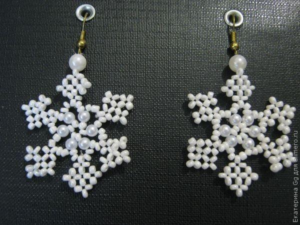Новогодние серьги «Снежинки»
