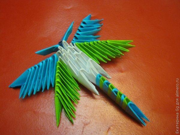 Оригами «Стрекозка»