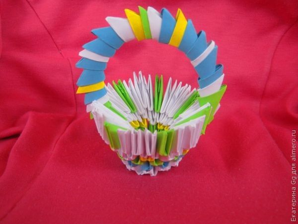 Оригами «Корзинка»