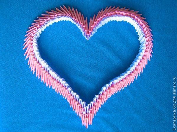 Все, сердце в технике оригами