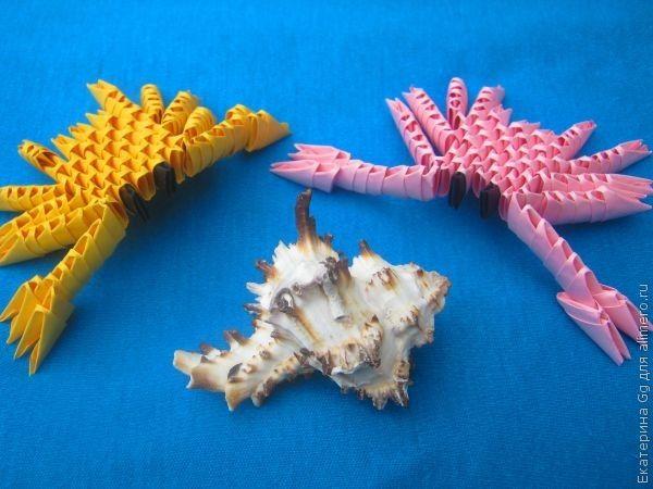 Оригами «Крабы»
