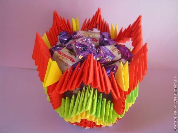 "Оригами ""Конфетница"""