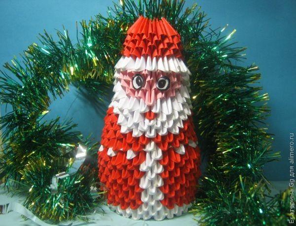 """Оригами """"Дед Мороз"""""""
