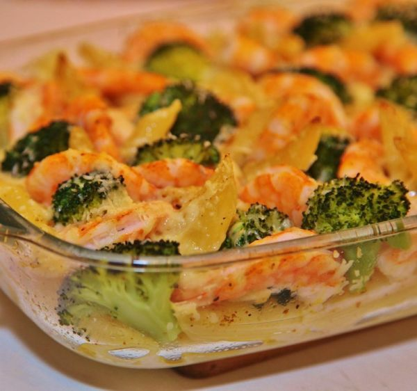 Рецепт ракушек с фаршем и сыром