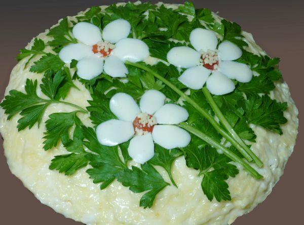 Салат с корейской морковью и грибами Три цветка / Рецепты ... легкий салат с курицей
