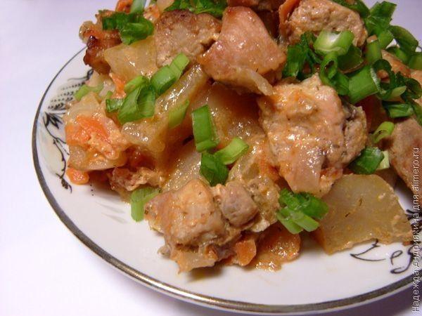 Картофель со свининой рецепт