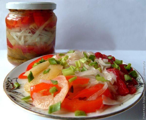рецепты капуста салаты на зиму рецепты с фото