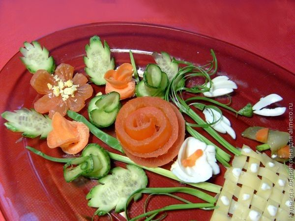 фото украшения для салатов