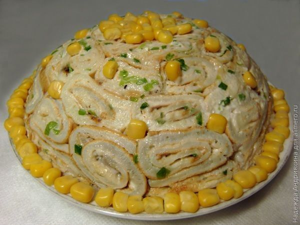 салат кружевница рецепт с фото