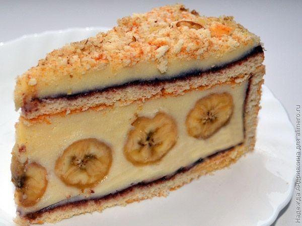 торт с бананами и карамелью рецепт с фото