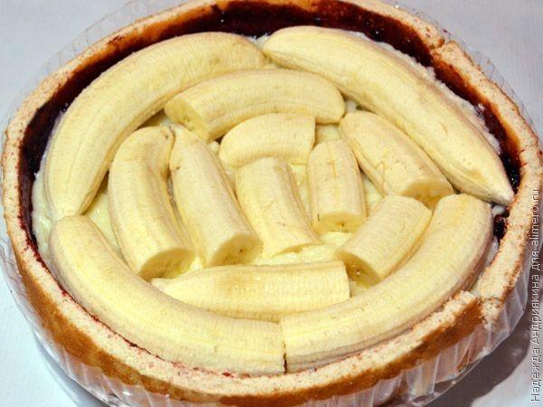 Торт своими руками с бананом