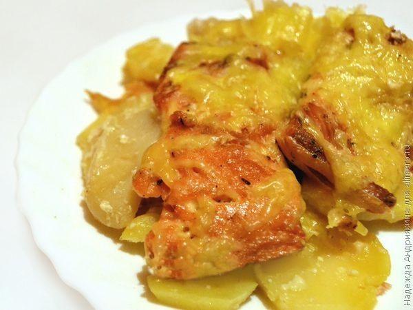 Горбуша с картофелем в духовке